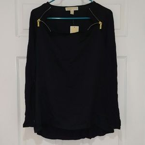 Michael by Michael kors Navy long sleeve blouse